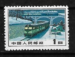 #4B#  CHINA YVERT 1892, MICHEL 1149 (*), NO GUM AS ISUED. TRAIN, CHEMIN DE FER, TREN. - Ongebruikt