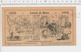 Carte Géographique Département Aude Blanquette De Limoux Souffre Miel Ruche Félix Barthe Soumet Fabre D'Eglantine PF222D - Old Paper