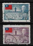 #9A#  TAIWAN YVERT 155, 157, MICHEL 158,160 VF USED. - 1945-... Republik China