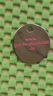 Shopping Carts / Winkelwagentjes / Jeton De Caddie - Baumaschinen / Bagger  GRAF, Frankenberg , Deutschland - Trolley Token/Shopping Trolley Chip