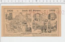 Carte Géographique Département Aube Bonneterie Jeanne D'Arc Grosley Frères Mignard Cathédrale Troyes Vin Arcis PF222D - Old Paper