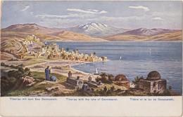 ISRAEL  TIBERIAS  With The Lake Of Gennesaret  Old Postcard - Israel