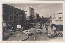 ISRAEL  TEL AVIV  Allenby Road - Old Cars - Circulated  1956 - Israel