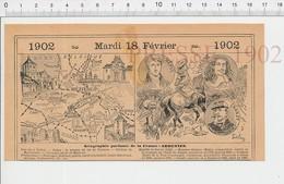 Carte Géographique Département Ardennes Rethel Houille Bataille De Rocroi Turenne Méhul Général Chanzy Nouart PF222D - Old Paper