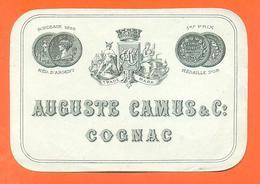 étiquette Ancienne De Cognac Auguste Camus à Cognac - Autres