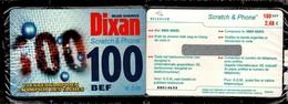 BELGACOM 100BEF Scratch &Phone - Publicité DIXAN- Non Utilisée, Sous-cellophane - Belgique