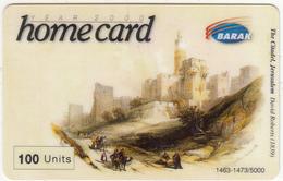 ISRAEL - The Citadel/Jerusalem, Painting/D.Roberts, Barak Prepaid Card 100 Units, Tirage 5000, Exp.date 16/03/03, Used - Israel