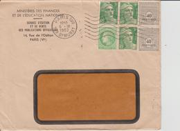 Enveloppe Ministère Des Finances 1952 - France