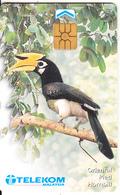 MALAYSIA(chip) - Bird/Oriental Pied Hornbill, Telecom Malaysia Telecard RM10, Used - Malaysia