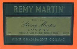 étiquette De Fine Champagne Cognac Remy Martin à Cognac - 75 Cl - Sonstige