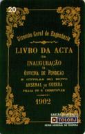 TARJETA TELEFONICA DE BRASIL (ARSENAL DE GUERRA DE RIO DE JANEIRO, LIBRO DE LA INAUGURACIÓN - 02/99) (107) - Armada