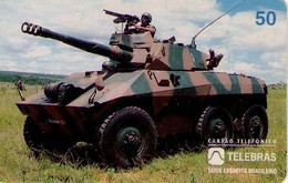 TARJETA TELEFONICA DE BRASIL (EJERCITO BRASILEÑO, TANQUE CASCAVEL - 04/96) (108) - Armada