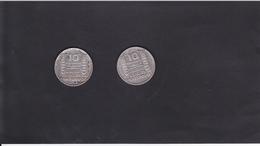 PIECE DE 10 EUROS /ARGENT / GRAVEUR TURIN / X 2  / 1932 - France