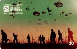 TARJETA TELEFONICA DE BRASIL (EJERCITO BRASILEÑO, COMBATIENTES PARACAIDISTAS - 07/96) (109) - Armada
