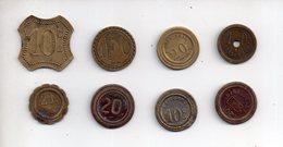 Sac X  : Monnaie Coin Nécessité A Consommer  Lot De 8 Différents - Monetary / Of Necessity