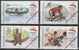 Specimen, Hungary Sc3334-7 1992 Olympics, Barcelona, Swimming, Cycling, Gymnastics, Running, Jeux Olympiques - Summer 1992: Barcelona