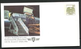 Bund PU117 D1/012 25 J. NACHTLUFTPOST EAPC  Stuttgart 1986 - Post