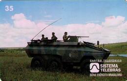 TARJETA TELEFONICA DE BRASIL (EJERCITO BRASILEÑO, TANQUE URUTU - 06/96) (115) - Armada