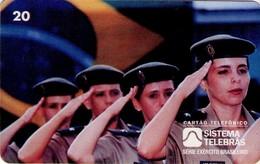 TARJETA TELEFONICA DE BRASIL (EJERCITO BRASILEÑO, LA MUJER EN EL EJERCITO - 06/96) (116) - Armada