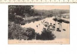 48349 - PONT AVEN AU PREMIER PLAN LA ROCHE FORME - LE PORT ET LES COLLINES DE L AVEN - Pont Aven