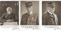 MARECHAL PETAIN 3 CARTES WW2 - Personnages