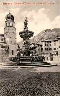 Trento - Fontana Di Nettuno In Piazza Del Duomo * 17. 6. 1910 - Trento