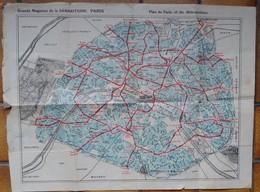 Plan De Paris Et Du Métropolitain Grands Magasins De La Samaritaine - Maps