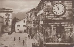 AK Kotor Cattaro Котор Waffenplatz Trg Od Oruzja Uhrturm Dalmacija Montenegro Crna Gora Црна Гора Serbien Serbia Srbija - Jugoslawien