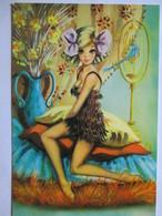 CPSM  VINTAGE Années 70 -  Jeune Femme   -  Illustration  CANO  -  TBE - Illustrators & Photographers