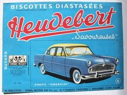 Beau Buvard Voiture Vedette Versailles Biscottes Heudebert Nanterre Lyon Alger Timbre Mickey - Transports