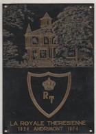 ANDRIMONT-LA ROYALE THERESIENNE-PLAQUE COMMEMORATIVE EN CUIVRE-CHATEAU OTTOMONT-TROUVAILLE-DIMENSIONS+-8,5-12CM-2SCANS! - Dison