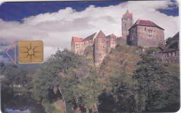 Czech Rep. C251C, 47/09.98, Castle Loket, 2 Scans.    GEM1B (Not Symmetric White/Gold) - Czech Republic