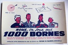 Beau Buvard Publicitaire Jeu 1000 Bornes éditions Dujardin Arcachon Mille Bornes - Transports