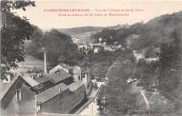 PLOMBIERES LES BAINS - Vue De L'usine Et De La Ville Prise Au-dessus De La Route De Remiremont - Plombieres Les Bains
