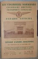 Les Courriers Normands Horaire Officiel 1965 - Relations SNCF - 44 Pages - Plan - Gare Routière Caen - Europe