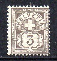 388/1500 - SVIZZERA 1882 ,  Unificato N. 64  ***  MNH . - 1882-1906 Stemmi, Helvetia Verticalmente & UPU