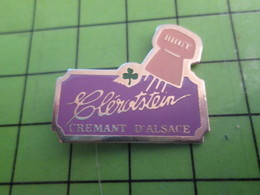 1018c Pin's Pins / Rare Et De Belle Qualité / THEME BOISSONS ; CLEROTSTEIN CREMAN D'ALSACE BRUT - Beverages