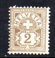 389/1500 - SVIZZERA 1905 ,  Unificato N. 100  ***  MNH . - Neufs