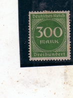 GERMANY GERMANIA GERMAN REICH EMPIRE IMPERO 1922 1923 NUMERAL CIFRA 300m MH - Germania
