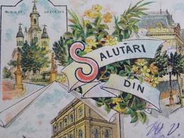 Romania Roumanie Cpa Postcard  - BUCURESTI - 1897 LITHO - Salutari Din Bucuresti - Multi Views - Rumänien