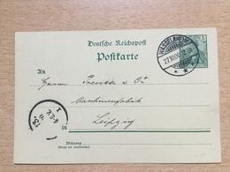 FL2851 Deutsches Reich Ganzsache Stationery Entier Postal P 50II Von Wasselnheim Nach Leipzig - Deutschland