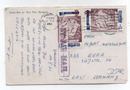 Thailand AIRMAIL POSTCARD TO Germany - Thailand