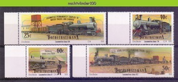 Ncf138 TRANSPORT TREINEN TRAIN ZUG STOOMLOKOMOTIEVEN STEAMERS LOCOMOTIVES EISENBAHN BOPHUTHATSWANA 1991 PF/MNH - Eisenbahnen