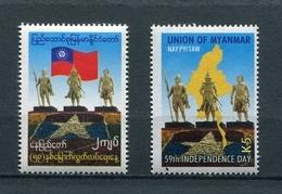 MYANMAR BIRMA BURMA 2007 Mi # 367 - 368 59th ANNIVERSARY Of INDEPEDENCE DAY MNH - Myanmar (Burma 1948-...)