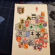 Armoiries Des Provinces Belges - Wapens Der Belgische Provinciën West Vlaanderen - Ansichtskarten