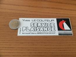 AUTOCOLLANT, Sticker «Yves LE COUTEUR - SERVICES PLAISANCE - BREST (29)» (bateau, Voilier) - Aufkleber