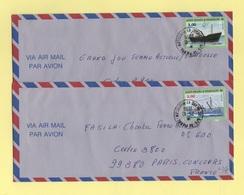 St Pierre Et Miquelon - 1996 - Lot De Deux Lettres Destination France - St.Pierre Et Miquelon