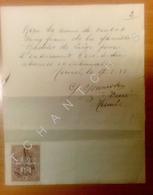 Hermée - Hermee - Facture - Enterrement -  Absoute - Curé Gonissen - Famille RADELET- Taxes Fiscales Belgique - Religión & Esoterismo