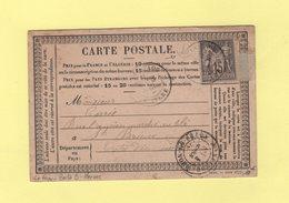Le Faou - Finistere - Boite Rurale B - Carte Ecrite A Hanvec - 3 Mars 1878 - 1877-1920: Periodo Semi Moderno