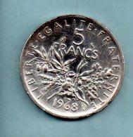Année 1967. 5 Francs Argent. (pièce033) - Francia